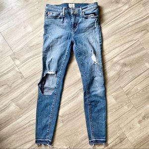 Hudson Jeans Nico Skinny Crop Raw Hem Size 26